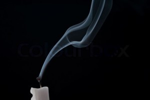 blown out candle